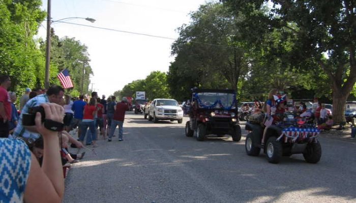 Fourth of July parade down Main Street